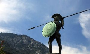 Leónidas. Estatua en el paso de las Termópilas.