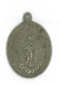Antigua medalla del Seminario Conciliar de Cuenca. S. XVII-XVIII