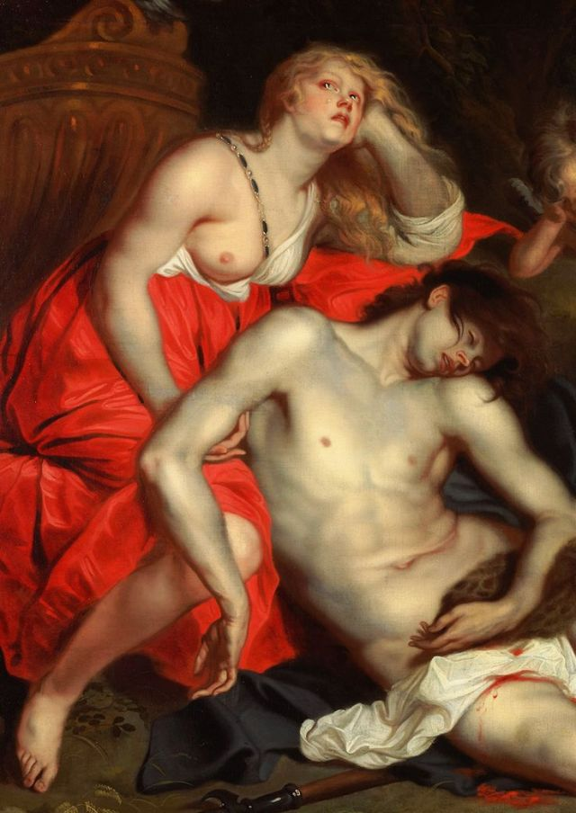 """ Thomas Willeboirts-Bosschaert. Detail from The Death of Adonis, 1642. """