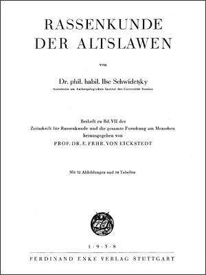 Herausgebubg von Prof. Eickstedt.
