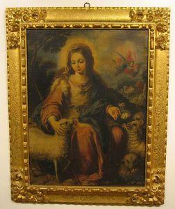 """Un ejemplar de óleo de """"Divina Pastora"""", de Toval. Otro estuvo mucho tiempo en el piso onnde vivíamos mi Madrey yo. Mi piadosísima Madre, q.e.p.d., tenía gran cariño y devoción a la Virgen y a ese cuadro."""