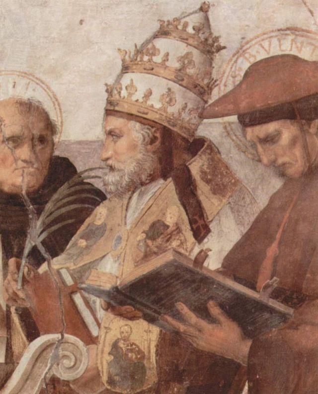 SS Julio, Papa II. Fresco de Rafael (detalle).