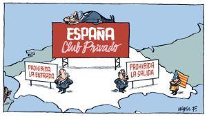 Propaganda venenosa, disolutoria de la Patria Española y de Europa. http://unadocenade.com/una-docena-de-vinetas-de-manel-fontdevila-para-definir-la-situacion-de-un-pais/