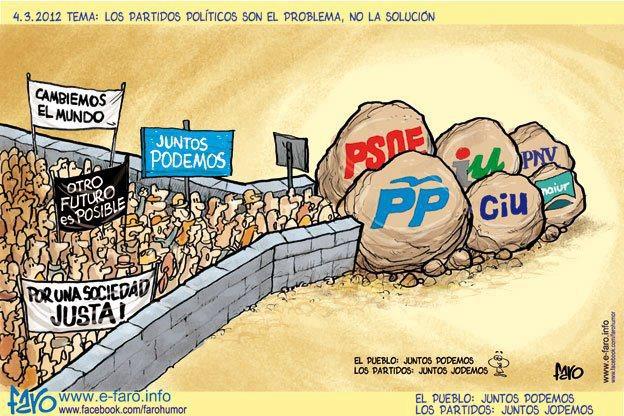 """No todo Partido, sino los de la Revolución del Mal, los Partidos Políticos herederos de la Revolución Francesa judeomasónica, y ejecutores de la Revolución permanente, ya sea en sedición y rebelión, ya a través de la """"Revolución institucionalizada"""" o acaparadora de El Poder Político Estatal."""